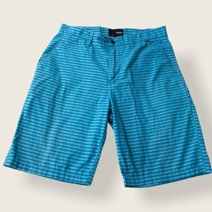 Hurley Teal Striped Shorts - Size 31